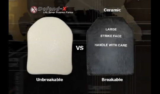Ceramic Hard Armor Plates vs. Defend-X