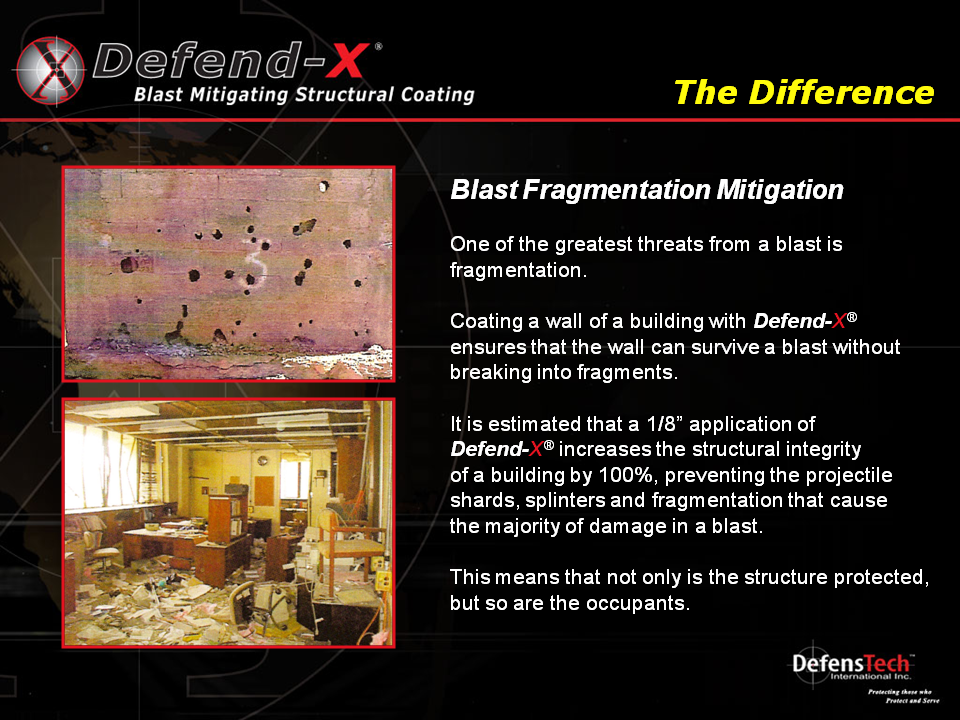 Blast Fragmentation Mitigation